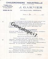 93 1582 PANTIN SEINE 1922 Chaudronnerie J. GARNIER Rue Du Centre - 1900 – 1949