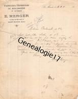 94 1254 SAINT MANDE SEINE 1910 Fabrique Ustenciles E. MERGER Boulangerie Patisserie Rue De Berulle - 1900 – 1949