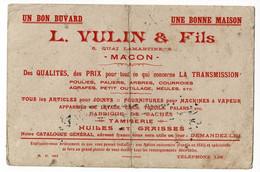 """Buvard Usagé """"L. Vulin & Fils"""" 6, Quai Lamartine - Macon - Joints, Fournitures Pour Machines à Vapeur, Appareils Levage - Other"""