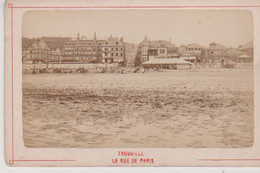 N°86179 -Trouville  -petite Photo Sur Carton épais-  RR- - Trouville