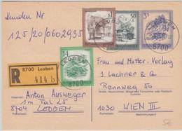Österreich - 3 S. Schönes Österreich Ganzsache Einschreiben Leoben Wien 1984 - Stamped Stationery