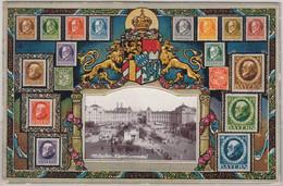 Bayern - Ludwig-Serie, Schmuck-AK, Gelaufen München - Ansbach 1914 - Beieren