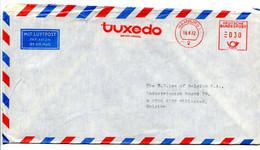 1972 Cover From TUXEDO Import Hamburg 1 To Lee Belgium - Nice Red Machine Cancellation + Stamp Wommelgem Bloemenstoet - Covers & Documents