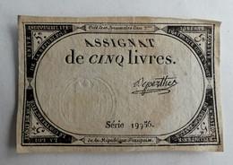10 BRUMAIRE AN II ASSIGNAT 5 LIVRES SERIE 19756 DEPERTEZ - Assignats