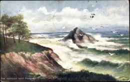 Artiste CPA Torquay Devon England, The Thatcher Rock, Rough Seas, Tuck 10053 - Autres
