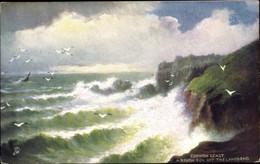 Artiste CPA Land's End Cornwall England, Cornish Coast, Rough Seas, Tuck Nr. 10053 - Non Classés
