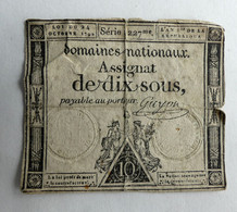 1792 ASSIGNAT 10 SOUS SERIE 1227 GUYON - Assignats