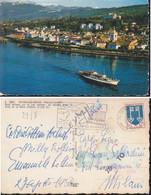 Cartolina FRANCIA : EVIAN-LES BAINS Veduta Aerea LAGO LEMAN Con  Battello.viaggiata 1968. - Andere