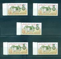 Palestine 2012- Arab Postal Day-joint Issue Set (5v) - Palestine