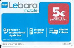 Télécarte Lebara Mobile 5€ - - Telefoni