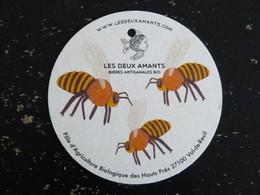 SOUS BOCK BIERE LES DEUX AMANTS 27100 VAL DE REUIL EURE ABEILLE BEE - Beer Mats