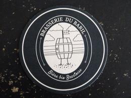 SOUS BOCK BIERE BRASSERIE DU BARIL BIERE BIO BREST - Beer Mats