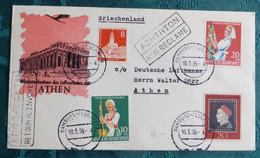 LH 294  Hamburg Athen  1959    Air Aviation  First Flight Erstflug   #cover5300 - Aviones