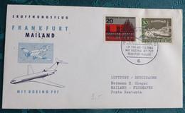 LH 336   Frankfurt  Mailand 1964    Air Aviation  First Flight Erstflug   #cover5302 - Aviones