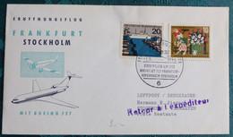 LH 212 Frankfurt  Stockholm 1964    Air Aviation  First Flight Erstflug   #cover5303 - Aviones