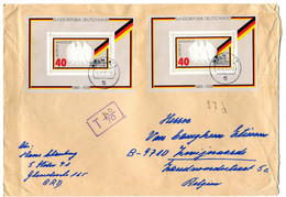 1974 Large Envelope From Koln  With 2 Block Mi 10 - TAX  T 160/70  - Block 25 Jahre Bundesrepublik - Cover To Belgium - Covers & Documents