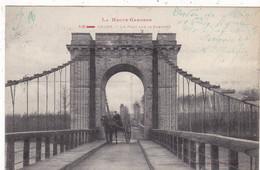 31. ONDES SUR GARONNE.CPA. LE PONT SUR LA GARONNE. ATTELAGE.+ TEXTE. ANNÉE 1916  CORRESPONDANCE MILITAIRE - Other Municipalities