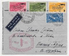 ALA LITTORIA ITALY ARGENTINA FFC ACCIDENTE 1934 PRIMO VOLO POSTALE ROMA BUENOS AIRES Crash Flight Fortaleza PANAM Cancel - Aviones
