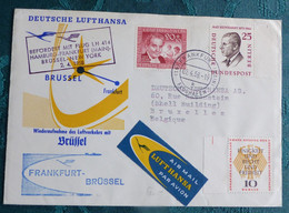 LH  414  Frankfurt Brüssel  1958    Air Aviation  First Flight Erstflug   #cover5307 - Aviones