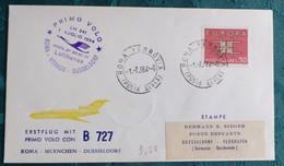 LH  341  Primo Düsseldorf  1964    Air Aviation  First Flight Erstflug   #cover5308 - Aviones