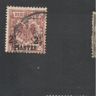 GERMAN OFFICES In TURKEY  1889:Michel 10C Used (C On Back From Expertization) - Ufficio: Turchia