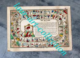 JEU DE L'OIE - RARE JOLIE ESTAMPE - IMAGERIE DE P.DIDION - Fin XIXeme - 28x40cm        (3108) - Stampe & Incisioni