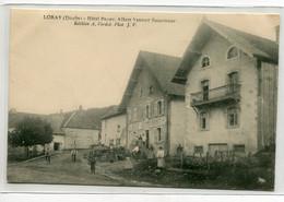 25 LORAY Carte Rare Villageois Rue HOTEL BRIOT Albert Verdot Successeur Edit A Verdot  Photo J . V    D15 2019 - Andere Gemeenten