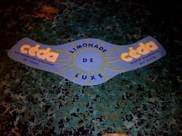 Vieux Papier Publicité étiquette Non Utilisée Limonade De Luxe Céda - Altri