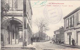 31. ONDES SUR GARONNE.CPA. INTERIEUR DU VILLAGE. MAIRIE. ANIMATION. ANNÉE 1916 + TEXTE F.M - Other Municipalities