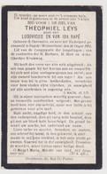 Doodsprentje Gesneuvelde WO I, Theophiel Leys. °Overmere, +Impde (Wolverthem) 1914. Zoon Van Rapé. - Obituary Notices