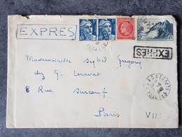 1948 Lettre Expres Pour Paris Gandon - 1921-1960: Moderne