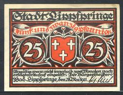 257-Lippspringe 25, 50 Et 75pf 1921 - Lokale Ausgaben