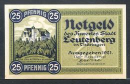 257-Leutenberg 25 Et 50pf 1921 - Lokale Ausgaben