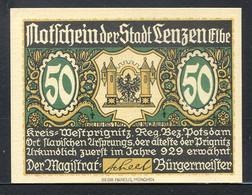 257-Lenzen A.d. Elbe 3x50 Et 3x75pf 1922 - Lokale Ausgaben