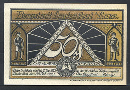 257-Lautenhal I. Harz 6x50pf 1921 - Lokale Ausgaben