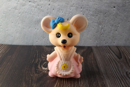 N.O.S. Best Vintage Rubber Toy USSR 1980s Soviet Beeps Toy Charming Pink Mouse. Baby Doll - Bambole