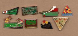 Lot De 8 Pin's Billard (tous Différents) - Billiards