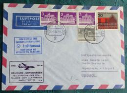 LH  650  Hamburg Kopenhagen  1964    Air Aviation  First Flight Erstflug   #cover5313 - Aviones