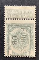 PRE OBP 81 TYPE I FLEURUS 08 - Rollo De Sellos 1900-09