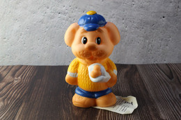 N.O.S. Best Vintage Rubber Toy USSR 1980s Soviet Beeps Toy Dog Blue Cap With Bone. Baby Doll - Bambole