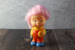 N.O.S. Best Vintage Rubber Toy USSR 1980s Soviet Toy Boy Figurine PONCHIK Pink Hair From Neznaika. Baby Doll - Peluche