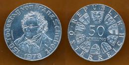 1978 // AUTRICHE // FRANZ SCHUBERT // 50 SCHILLING // SILVER - Austria