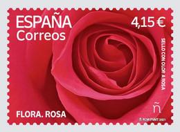 España. Spain. 2021. Flora. Rosa - 2011-... Nuovi & Linguelle