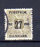 Danemark 1918, Timbres Journaux 1907 Surchargés, Yv. 87 ø, Cote 210 € - Gebraucht