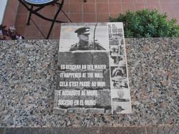E' Accaduto Al Muro Es Geschah An Der Mauer It Happened At The Wall Anno 1973 - Fotografia