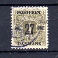 Danemark 1918, Timbres Journaux 1907 Surchargés,Yvert  87 Ø, Cote 210 € - Gebraucht