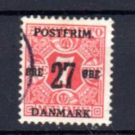 Danemark 1918, Timbres Journaux 1907 Surchargés, Yv.   89 Ø, Cote 210 € - Gebraucht