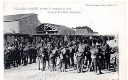 Chalon Sur Saone -  Pendant La Campagne De 1914 - Train De Tirailleurs Senegalais - CPA°gk - Chalon Sur Saone