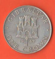 Gibilterra One Crown 1967 Gibraltair Nickel Coin Proof - Gibraltar