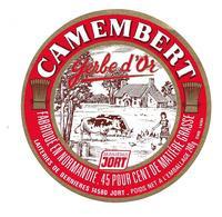 ETIQUETTE De FROMAGE..CAMEMBERT Fabriqué En NORMANDIE..Gerbe D'Or..Laiteries De BERNIERES à JORT ( Calvados 14) - Formaggio